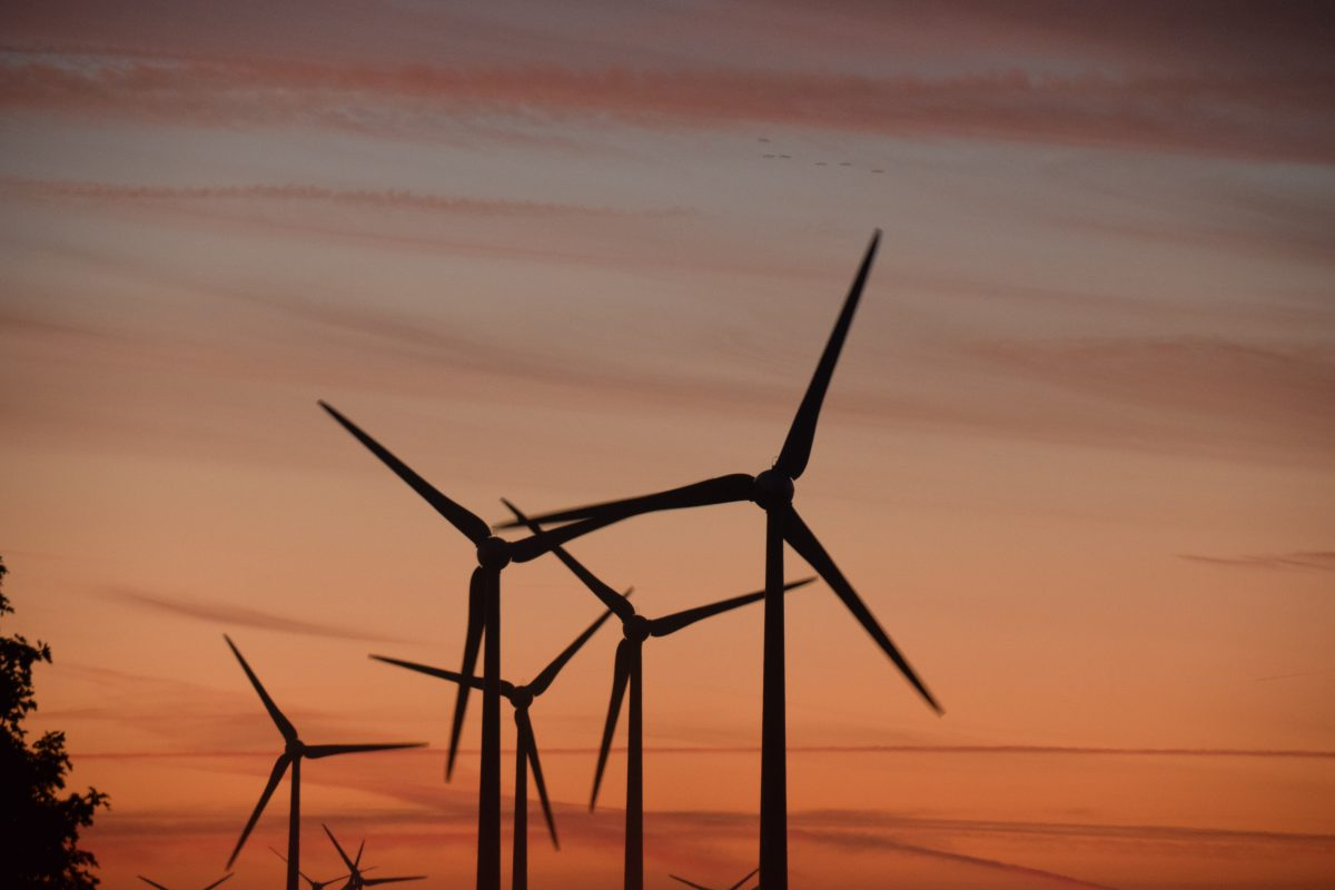 Wind Mill sunset